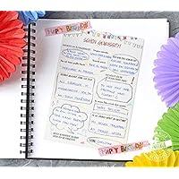 Geburtstag Gästebuch 30 Gästebuch-Karten mit Fragen Geburtstagsgeschenk für Frauen und Männer
