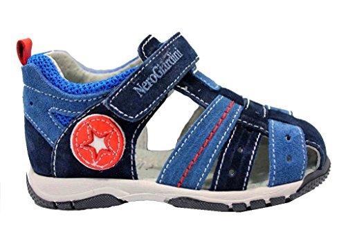 Noir Giardini J P823140M Bleu Sandales Chaussures Bébé Fermeture avec Larme - Bleu, 23 EU