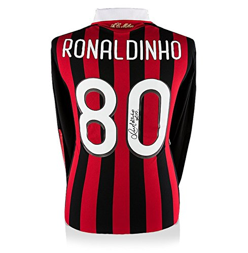 Icons-Shop-Unisex-ICRMS1-Ronaldinho-Back-Signed-Ac-Milan-2009-10-Home-Shirt-Multi-Colour