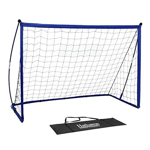 Hathaway Striker Tragbares Fußballtor System mit schwarz Net & Royal Blau Trim, Bodenspieß und Tragetasche, 4'x 6' blau, schwarz, 89,9cm L x 182,9cm W x 121,9cm H -