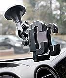 DURAGADGET Soporte para GPS Tomtom Via 52 | Tomtom Via 62 | Tomtom XXL Classic - Rotación 360 Grados - con Abrazaderas y Fuerte Ventosa
