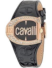 Just Cavalli Damen-Armbanduhr Analog Quarz Leder R7251160509