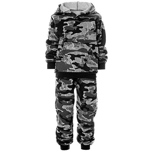 BEZLIT Kinder Hoodie Jogging Sport Anzug Junge Stoff Kapuzenpullover Pulli Hose 21634 Grau Größe 104