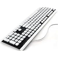 Desktop Tastiera con cavo USB impermeabile Tastiera standard Plug and Play USB (nero) per i dattilografi dei giocatori