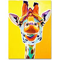 Trademark Fine Art Giraffe No.3 Artwork by DawgArt, 24 by 32-Inch preiswert