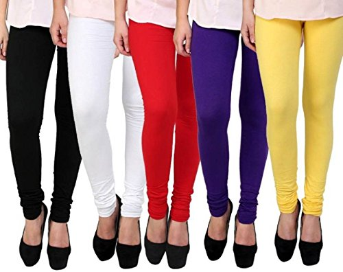 Devaas Leggings For Womens Pack of 5 (Free Size, Multicolor9)