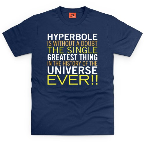 Hyperbole T-Shirt, Herren Dunkelblau