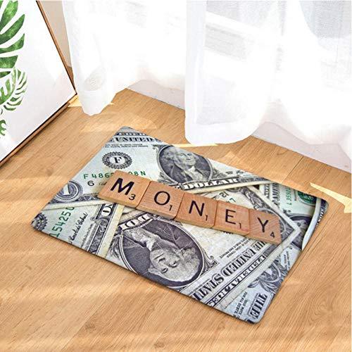 Asbjxny Dollar-Fußmatten-Bad-Matten-Badezimmer-Wolldecken-Küchen-Wolldecken für Inneneinrichtung JHY1224