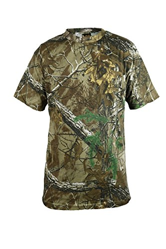 Mens-SHORT-SLEEVE-Camouflage-Forest-Jungle-Print-Tshirt-Camo-Full-Sleeved-T-Shirt-Top-Outdoor-Hunting-Shooting-Camo-Real-Tree-Woods