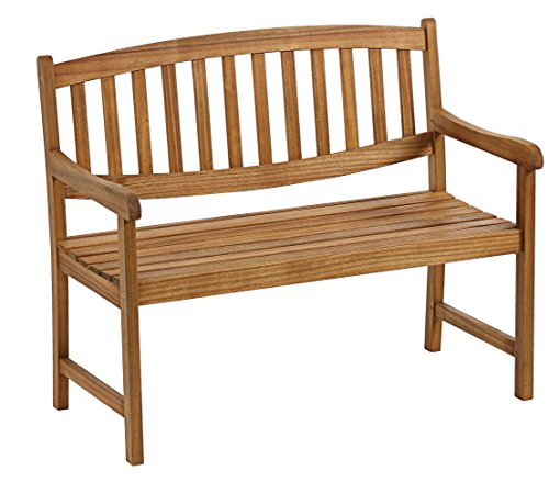 Dehner Gartenbank Dover, 4-Sitzer, ca. 175 x 60 x 90 cm, FSC Akazienholz, geölt, Natur