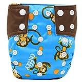 Happy Cherry Baby Waschbar Stoffwindel Windelhose Verstellbare Tuch Windel mit Druckknopf, Muster wählbar