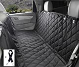 "Waterproof BackSeat Dog Seat Cover by IUIA, X-Large 58""x54"" Non-slip Scratch-proof Dog Hammock Rear Seat Protector with Adjustable Pet Dog Car Seat Belt, Universal Fit in SUVs & Cars"