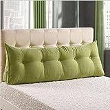 Großes Bett Rückenlehne Dreidimensionale Dreieck Bett Kopfteil Kissen Mit Waschbar Und Zugänglich Abdeckung,Green-180*50*25cm