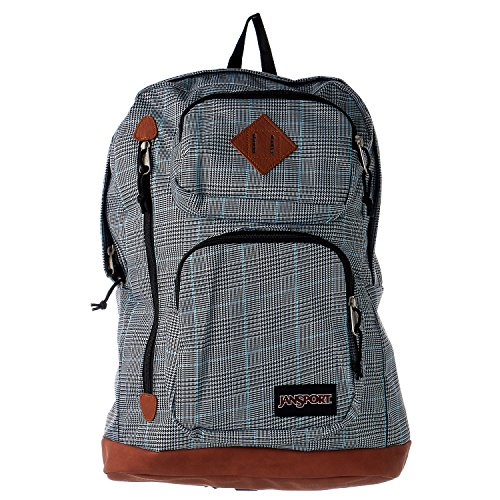 JanSport Houston Laptop Backpack- Sale Colors (Black/White Suited Plaid) -