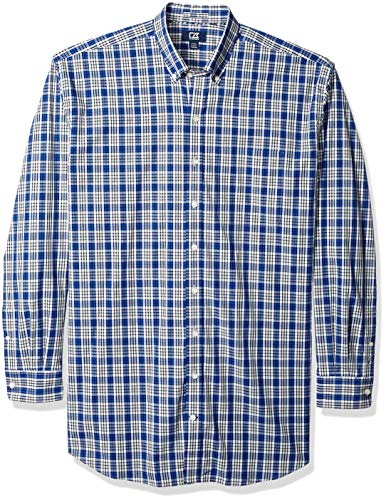 Cutter & Buck Herren Medium Plaid and Check Easy Care Collared Shirts Button Down Hemd, Harrison Bolt, Groß -