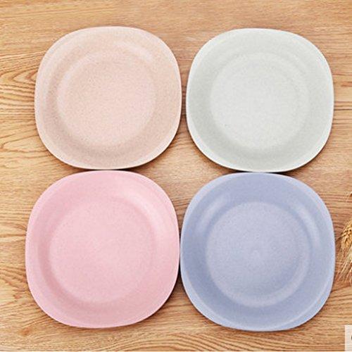 Kaxima Coupelle petit plat de plastique maison cracher couverts plat plat aromatisé plat farine d'os mis en quatre 18.5cm