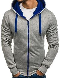 BOLF Kapuzenpullover Sweatshirt Hoodie Kapuze Pullover mit Reißverschluss Mix 1A1