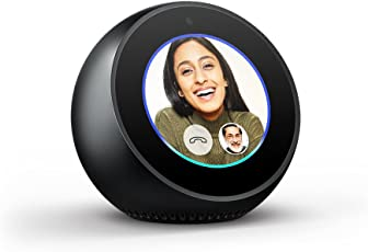 Echo Spot - Stylish echo with a screen, Make video calls, Voice control your music, news, weather & more - Black