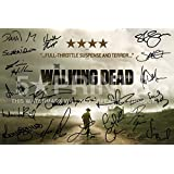 "The Walking Dead Poster Photo Signed PP 12x8"" Cast Robert Kirkman Andrew Lincoln Jon Bernthal Norman Reedus Laurie Holden Sarah Wayne Callies Steven Yeun"