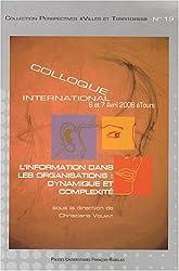 L'information dans les organisations : dynamique et complexité