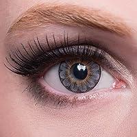 matlens–EOS colorate lenti a contatto senza spessore grigio Gray Big Eyes Daisy 3T 2lenti 1contenitore lenti a contatto 1detergente 50ml FBA
