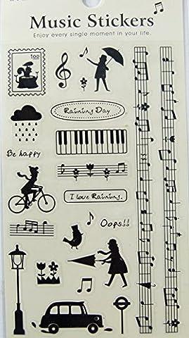 FunMusicOnline Musik Themed PVC-Aufkleber - Raining