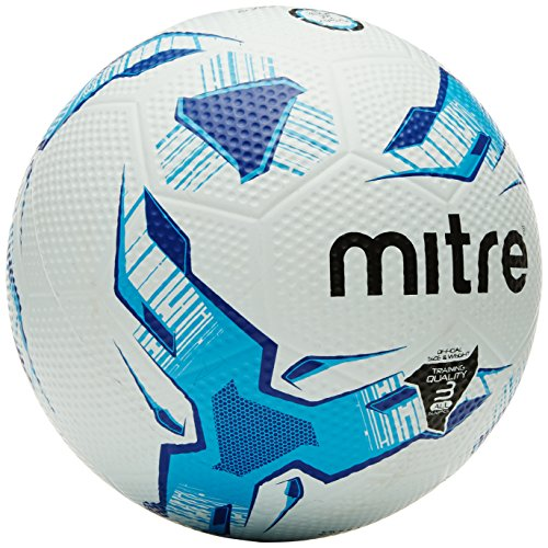 Mitra Super Grübchen Training Fußball, Unisex, Super Dimple, White/Light Blue/Blue -