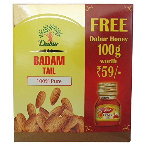 Dabur Badam Tail - 100 ml with Free Dabur Honey - 100 g Worth Rupees 59  available at amazon for Rs.298