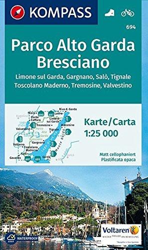 Carta escursionistica n. 694. Parco ALto Garda, bresciano 1:25.000. Adatto a GPS. Digital map. DVD-ROM