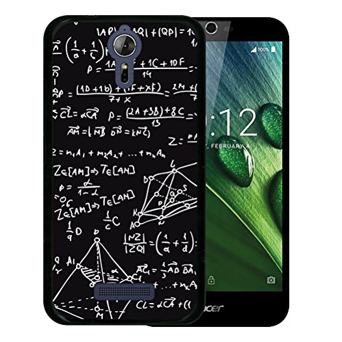 WoowCase Acer Liquid Zest Plus Hülle, Handyhülle Silikon für [ Acer Liquid Zest Plus ] Mathematische Formeln Handytasche Handy Cover Case Schutzhülle Flexible TPU - Schwarz