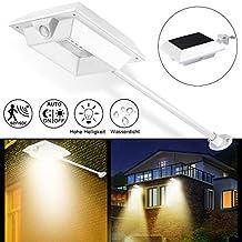 Lámpara solar exterior, MR. Twinkle Light 2200 mAh LED Lámpara solar con PIR Detector