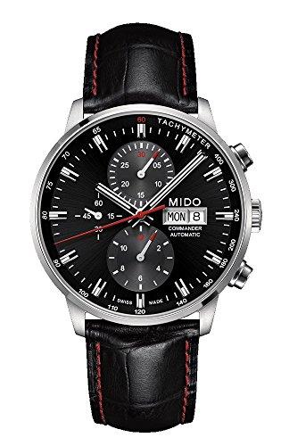 Mido Reloj Multiesfera para Hombre de Automático con Correa en Cuero M016.414.16.051.00