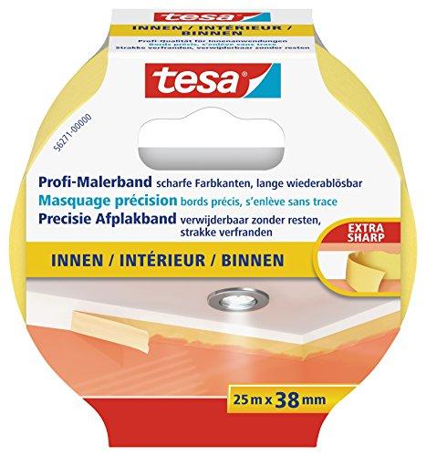 tesa Malerband für Innen, Profi Qualität, 25m x 38mm