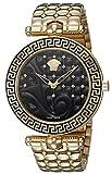 Versace Damen Analog Quarz Uhr mit Edelstahl Armband VK7250015