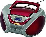 AEG SR 4358 - Radio CD (USB, MP3), rojo