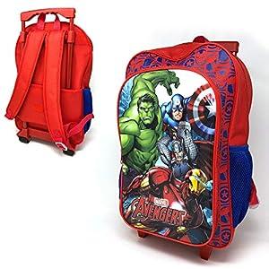 51bXPqNeYJL. SS300  - Marvel Avengers Deluxe - Mochila con ruedas para niños