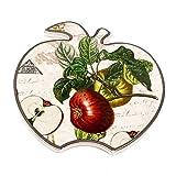 Untersetzer, Dekofliese, Glaseruntersetzer, Topfuntersetzer, Apfel rot / grün