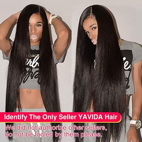 Yavida extension capelli umani veri 8a human hair bundles extension tessitura capelli veri capelli umani lisci capelli lisci brasiliani 400g colore naturale 22 24 26 28 pollici