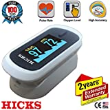 Hicks N-310 Fingertip Pulse Oximeter (White/Black)