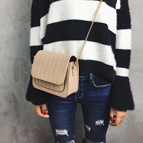 Zarupeng Frauen Mode Reine Farbe Handtasche Schulter Taschen Umhängetasche Khaki