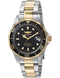 Invicta Pro Diver Unisex Analogue Classic Quartz Watch with Stainless Steel Gold Plated Bracelet – 8934