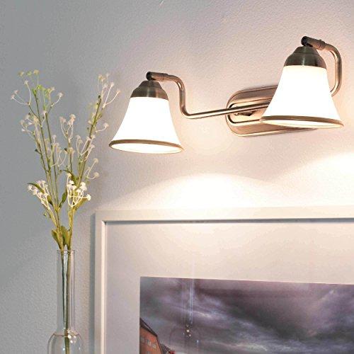 Jugendstil Wandleuchte Bad Wohnzimmer in Bronze mit Schalter schwenkbar 2xE14 Bilderleuchte Spiegelleuchte