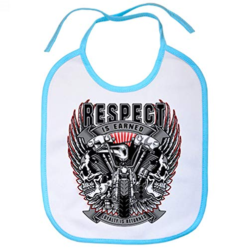 Babero motero Custom Respect Is Earned - Celeste
