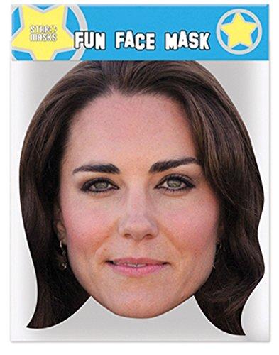 empireposter Middleton, Kate - Maske aus hochwertigem Glanzkarton, mit Augenlöchern (Kate Middleton Kostüm)