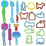 ULTNICE Ton Doh Set Teig Form intelligente Teig Werkzeuginstallationssatz mit Modellen und Formen Pack von 20 zufällige Farbe