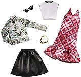 Barbie Fashion, 2 Vestiti e Accessori per la Bambola, Regalo per Bambini 3+ Anni, FXLJ60