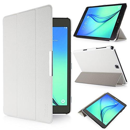 iHarbort® Samsung Galaxy Tab A 9.7 Hülle Case Tasche mit Standfunktion Auto Wake up Sleep PU Leder hüllen für Samsung Galaxy Tab A 9.7 (SM-P550 P555 T550 T555) Smart Cover - Tablet Weiß