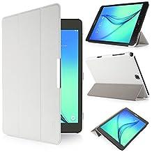 iHarbort® Samsung Galaxy Tab A 9.7 Funda - ultra delgado ligero Funda de piel de cuerpo entero para Samsung Galaxy Tab A 9.7 pulgada (SM-T550 SM-T555) (Galaxy Tab A 9.7, blanco)