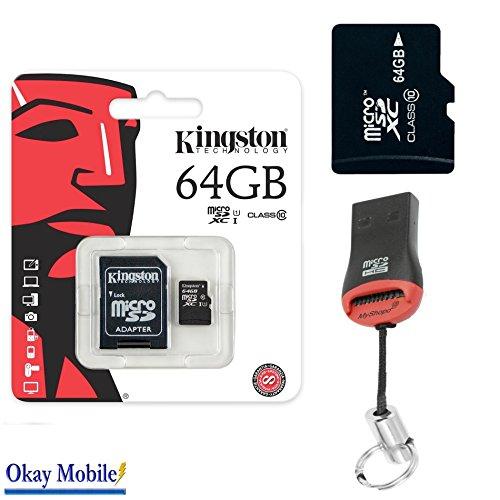 Preisvergleich Produktbild Original Kingston MicroSD SDHC Speicherkarte 64GB Für Gigaset GS160 64GB + KartenLeser