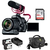 Canon EOS 80D DSLR Camera With 18-135mm Lens Video Creator Kit Plus Extra Lithium-Ion Battery Pack With Charger, DSLR Shoulder Bag And 64GB Ultra UHS-I SDXC Memory Card
